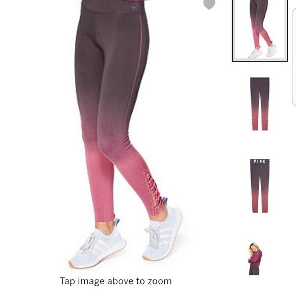 ed37603760c4c Ombre pink leggings. NWT. PINK Victoria's Secret. $70 $50. Size. M. Buy Now